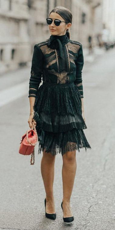 what-to-wear-for-a-winter-wedding-guest-outfit-black-dress-peasant-sheer-hairr-black-shoe-pumps-pony-dinner.jpg