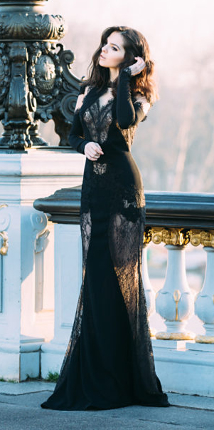 what-to-wear-for-a-winter-wedding-guest-outfit-black-dress-maxi-gown-sheer-panels-lace-brun-dinner.jpg