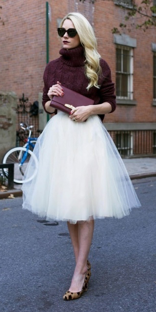 what-to-wear-for-a-winter-wedding-guest-outfit-white-midi-skirt-burgundy-sweater-turtleneck-blonde-sun-burgundy-bag-clutch-tan-shoe-pumps-leopard-print-chiffon-dinner.jpg