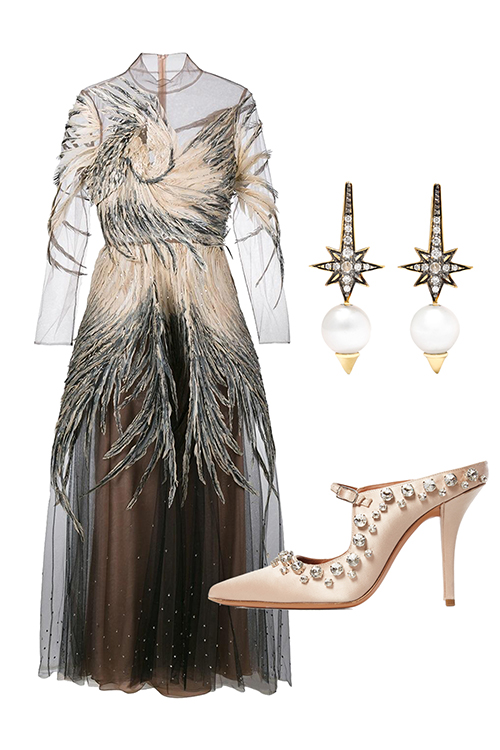 what-to-wear-for-a-winter-wedding-guest-outfit-brown-dress-midi-sheer-white-shoe-pumps-pearl-earrings-peasant-dinner.jpg