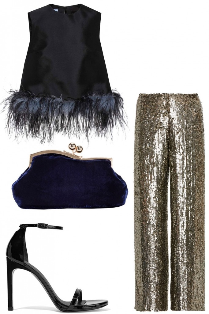 what-to-wear-for-a-winter-wedding-guest-outfit-tan-wideleg-pants-gold-black-top-boxy-black-bag-clutch-black-shoe-sandalh-dinner.jpg