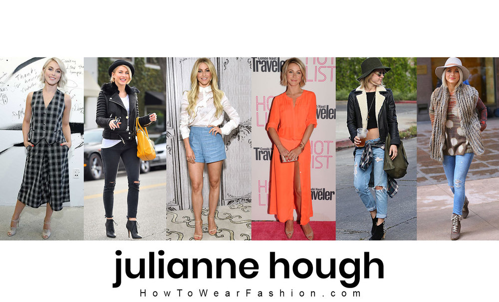 Julianne Hough's fashion style! See all her best outfit looks here.