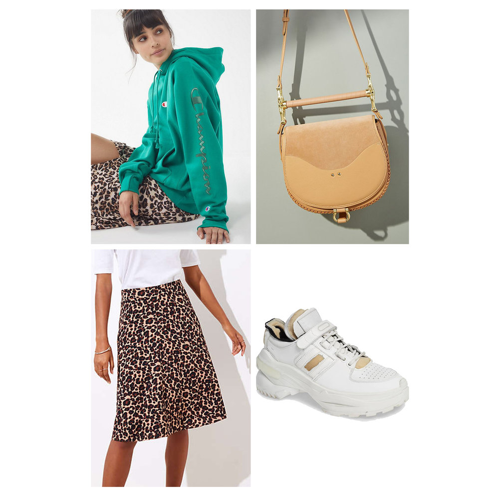 fall-autumn-outfit-weekend-2018-fashion-ideas-leopard-print-skirt-aline-green-hoodie-sweatshirt-white-dad-sneakers-tan-handbag-casual.jpg