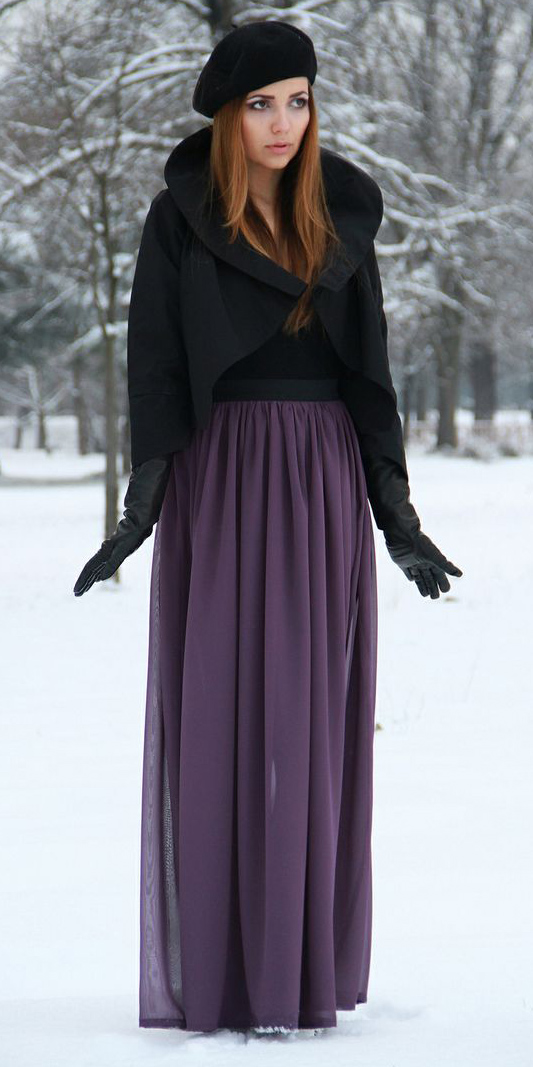 black-jacket-cape-beret-hairr-gloves-purple-royal-maxi-skirt-fall-winter-lunch.jpg