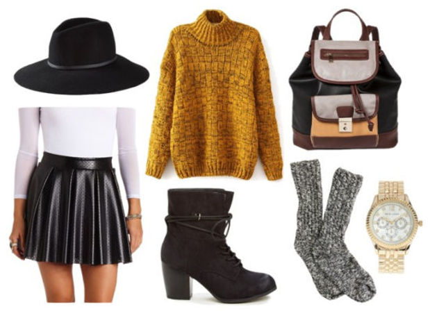 black-mini-skirt-yellow-sweater-howtowear-fashion-style-outfit-fall-winter-mustard-skater-socksor-black-tights-black-shoe-booties-black-bag-pack-hat-watch-lunch.jpg