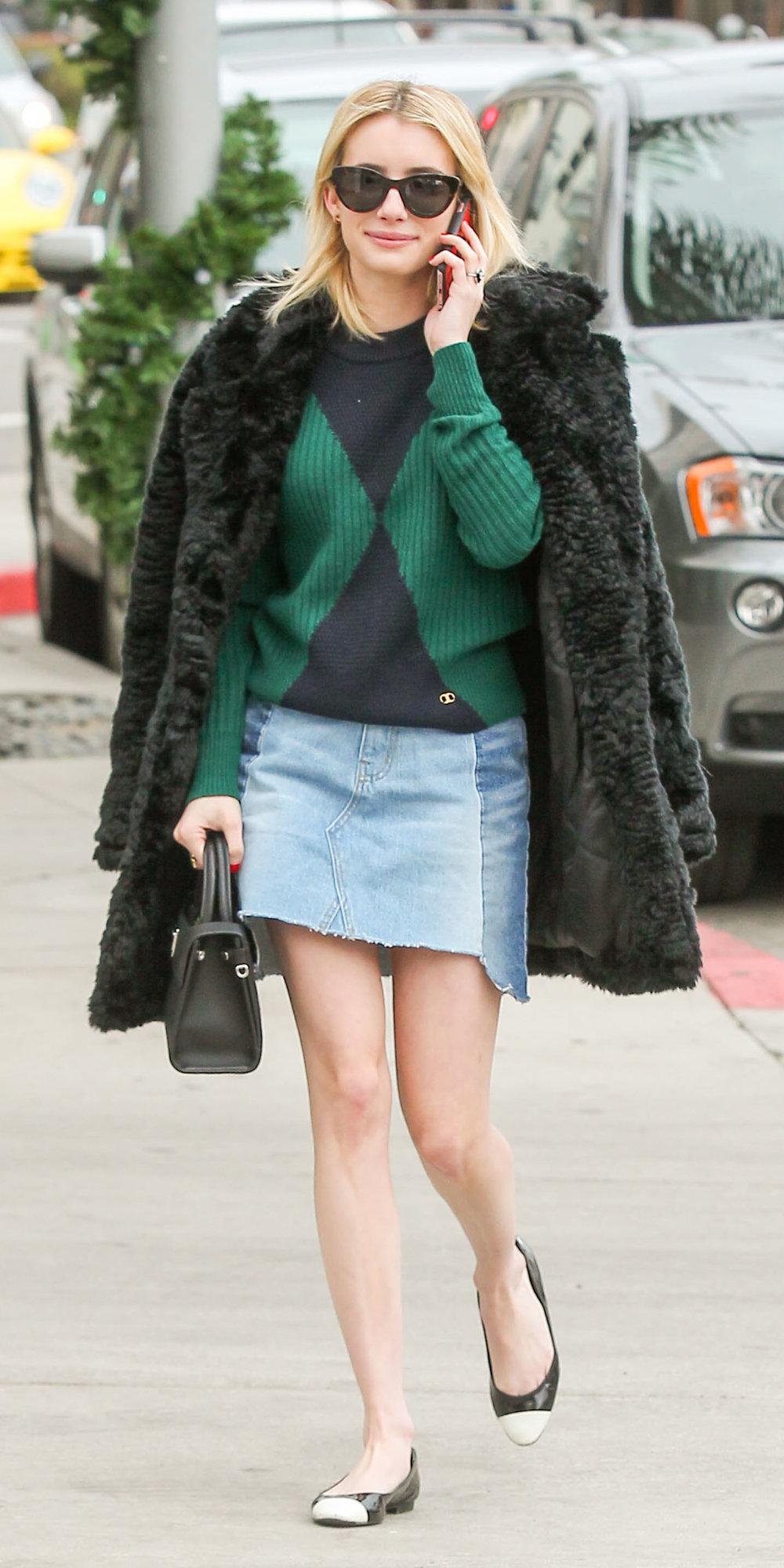 2047ddb33cf blue-light-mini-skirt-emmaroberts-green-emerald-sweater-
