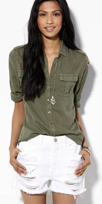 Olive Green Button Downs Howtowear Fashion