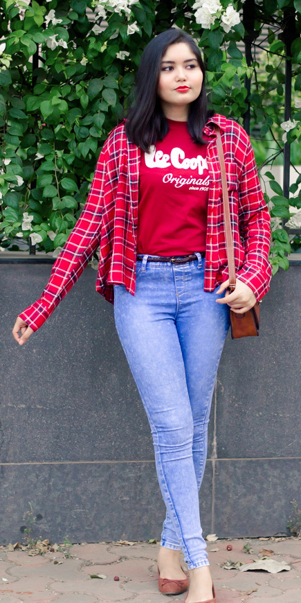 blue-light-skinny-jeans-red-graphic-tee-red-plaid-shirt-cognac-shoe-flats-fall-winter-weekend.jpg