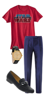 blue-navy-slim-pants-black-shoe-loafers-watch-starwars-red-graphic-tee-spring-summer-lunch.jpg