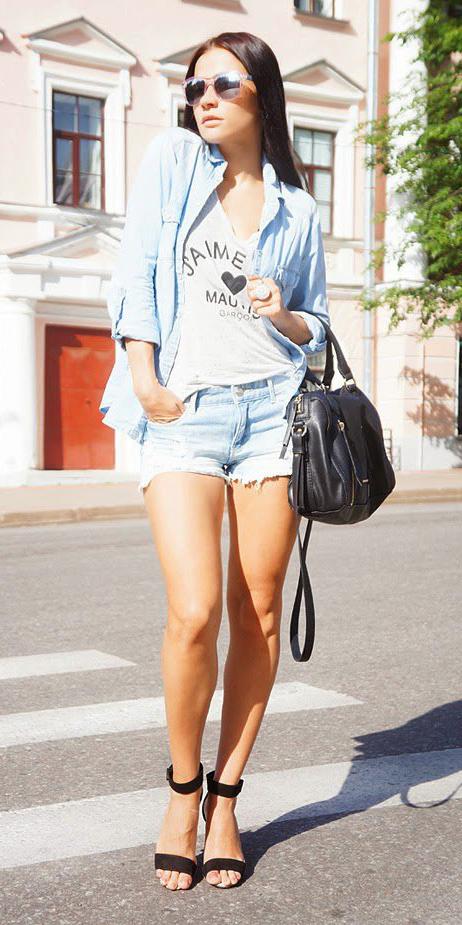 blue-light-shorts-white-graphic-tee-black-bag-blue-light-collared-shirt-hairr-sun-black-shoe-sandalh-spring-summer-lunch.jpg
