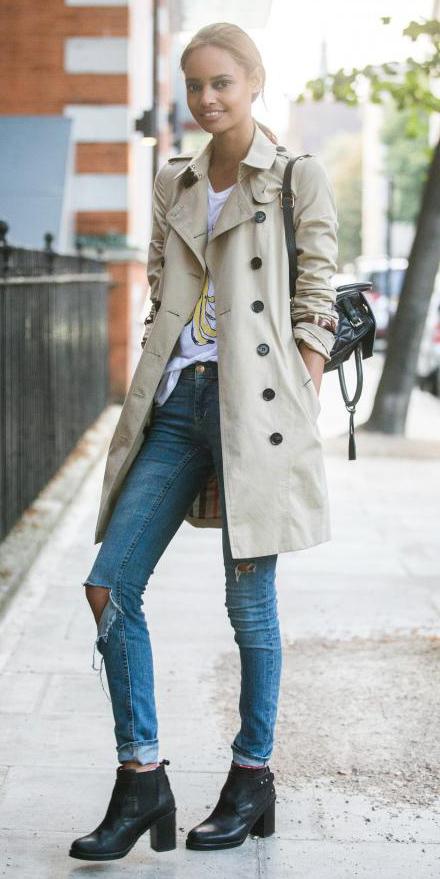 blue-med-skinny-jeans-white-graphic-tee-brun-pony-black-shoe-booties-tan-jacket-coat-trench-fall-winter-weekend.jpg