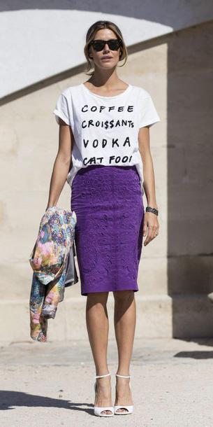 purple-royal-pencil-skirt-white-graphic-tee-white-shoe-sandalh-pony-spring-summer-blonde-lunch.jpg