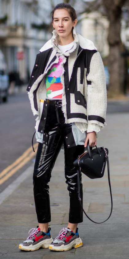 black-skinny-jeans-patent-leather-white-graphic-tee-white-jacket-bomber-hairr-black-bag-gray-shoe-sneakers-dad-chunky-fall-winter-weekend.jpg
