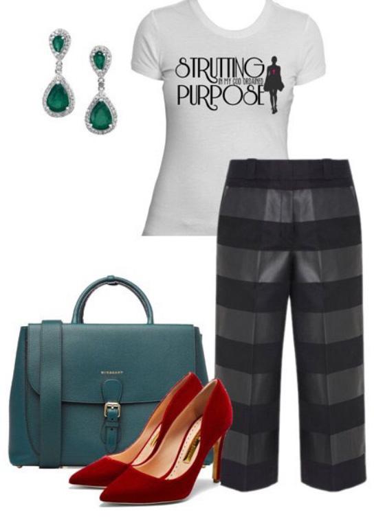 black-culottes-pants-white-graphic-tee-green-earrings-jewel-green-bag-red-shoe-pumps-fall-winter-work.jpg