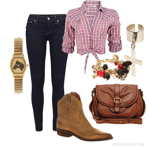 blue-navy-skinny-jeans-cognac-bag-watch-tan-shoe-booties-bracelet-pink-light-plaid-shirt-spring-summer-weekend.jpg
