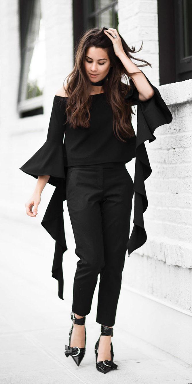 bb008964d2a4b black-slim-pants-choker-black-shoe-pumps-mono-