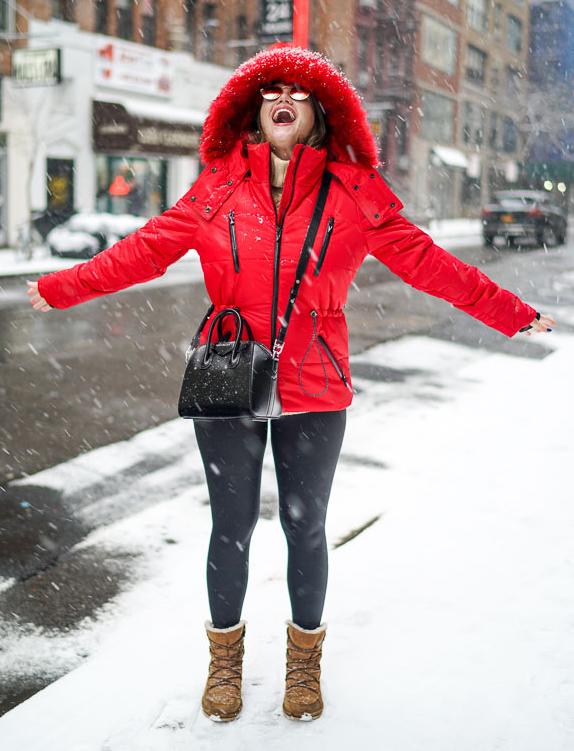 black-leggings-cognac-shoe-booties-black-bag-sun-parka-snow-red-jacket-coat-puffer-fall-winter-weekend.jpg