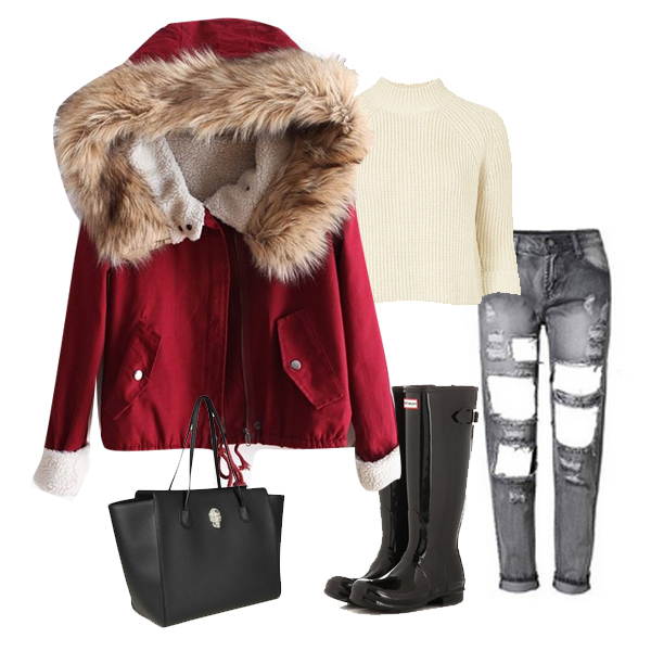 grayd-skinny-jeans-white-sweater-black-bag-black-shoe-boots-rain-wellies-red-jacket-coat-parka-fall-winter-outfit-weekend.jpg