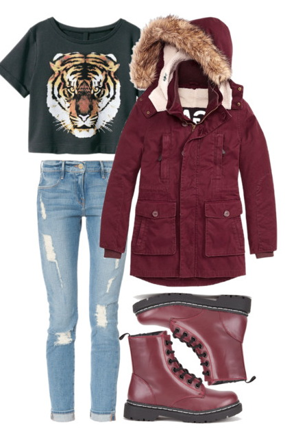 blue-light-skinny-jeans-black-graphic-tee-burgundy-shoe-booties-drmartens-burgundy-jacket-coat-parka-fall-winter-outfit-weekend.jpg