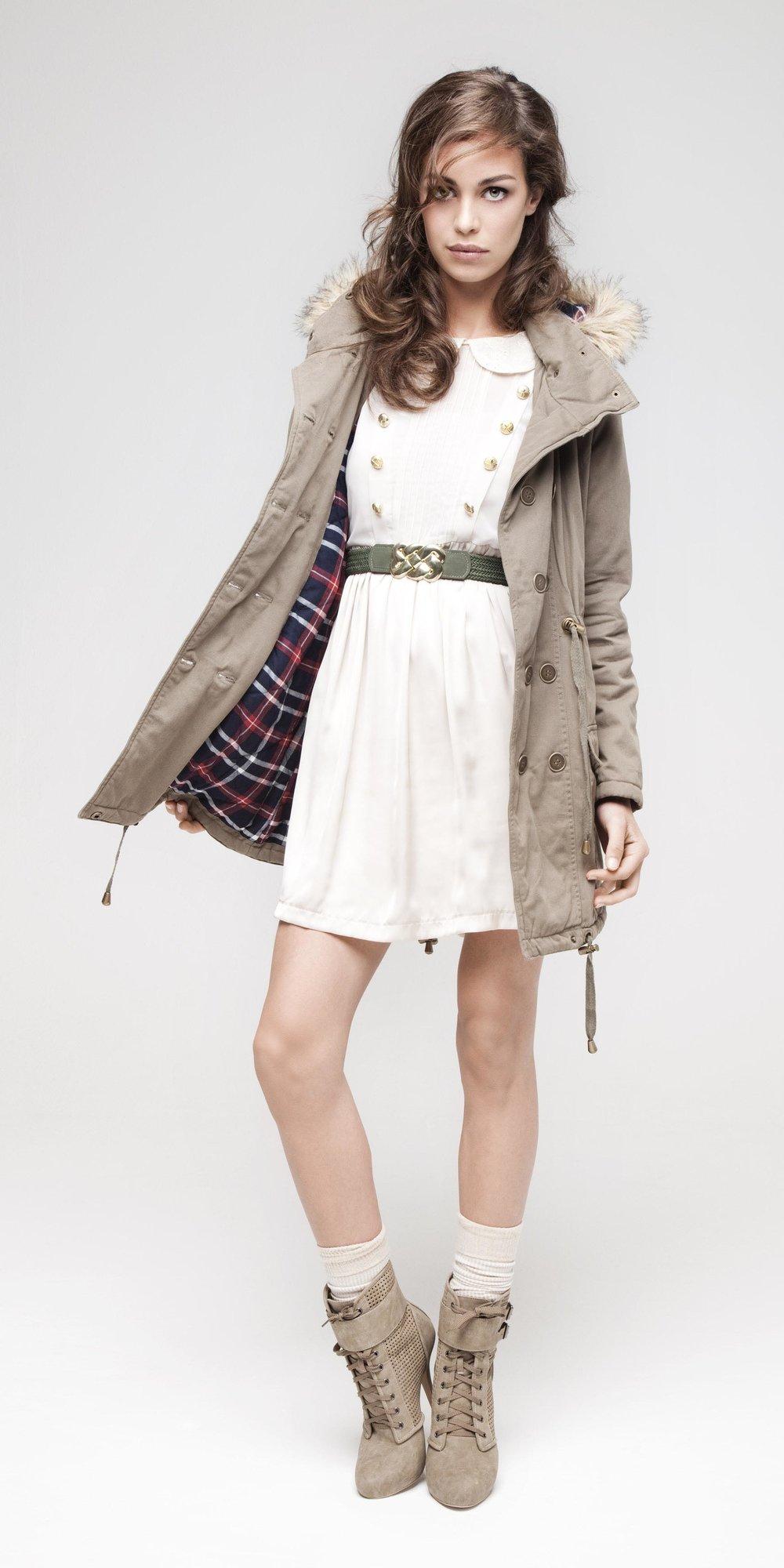 white-dress-mini-belt-tan-jacket-coat-parka-hairr-socks-tan-shoe-booties-fall-winter-weekend.jpg