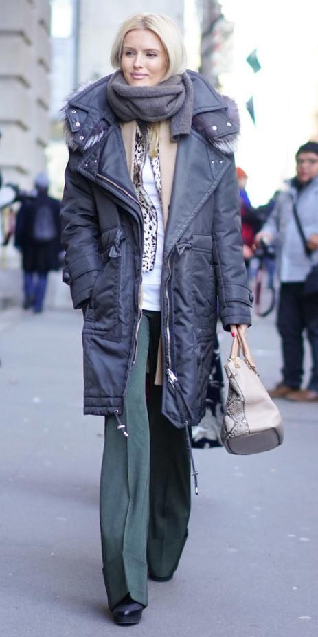 green-dark-wideleg-pants-grayd-scarf-tan-bag-blonde-blue-navy-jacket-coat-parka-fall-winter-work.jpg