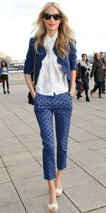 blue-med-slim-pants-white-collared-shirt-blonde-white-shoe-sandalh-blue-navy-jacket-lady-spring-summer-lunch.jpg