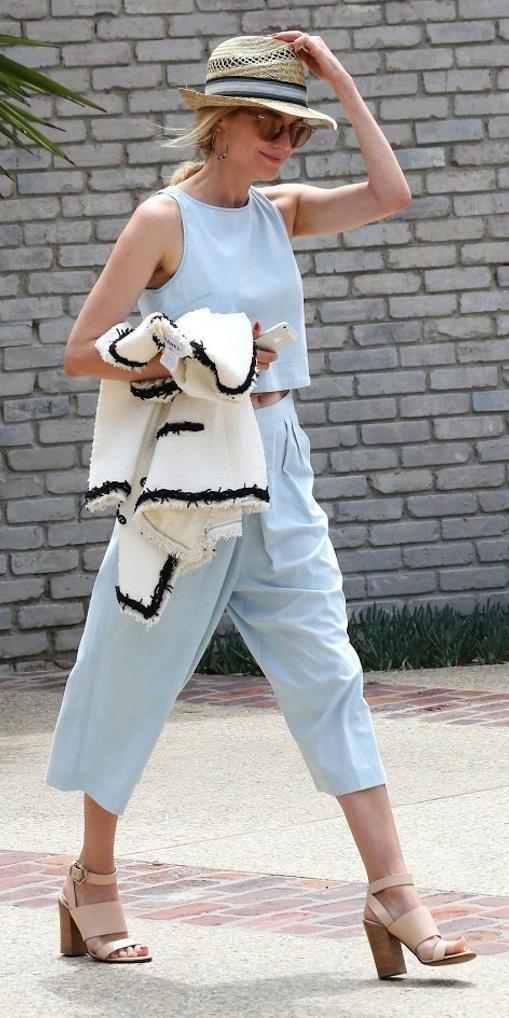 blue-light-culottes-pants-blue-light-top-crop-white-jacket-lady-sun-hat-blonde-tan-shoe-sandalh-howtowear-spring-summer-dianekruger-culottes-lunch.jpg