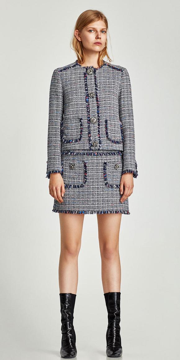grayl-mini-skirt-tweed-black-shoe-booties-skirtsuit-blonde-grayl-jacket-lady-fall-winter-lunch.jpg