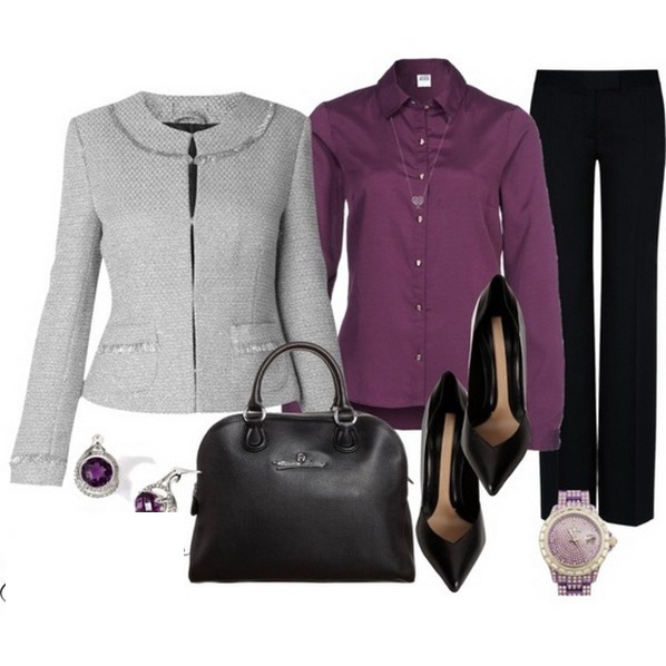 black-wideleg-pants-purple-royal-collared-shirt-grayl-jacket-lady-black-bag-black-shoe-pumps-studs-watch-howtowear-fashion-style-outfit-fall-winter-work.jpg