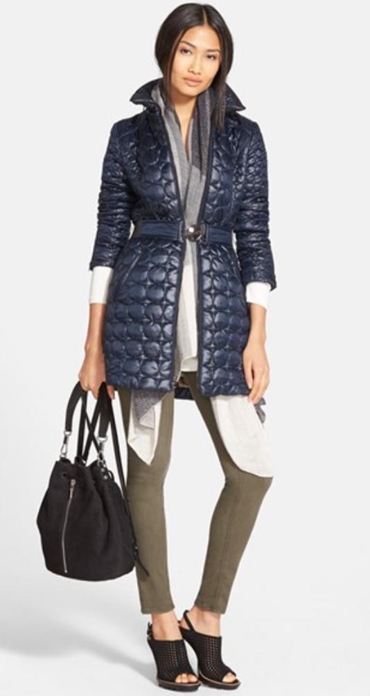 green-olive-skinny-jeans-blue-navy-jacket-coat-howtowear-style-fashion-fall-winter-puffer-belt-layers-black-bag-black-shoe-sandalh-brun-lunch.jpg