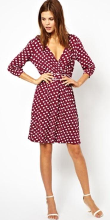 7a611b4f5b6 red-dress-zprint-dot-white-shoe-sandalh-wrap-
