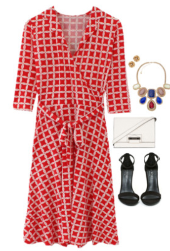 1550aa2b5f1 red-dress-zprint-grap-black-shoe-sandalh-bib-