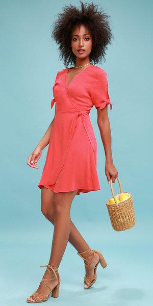 9514bc04b1a orange-dress-wrap-tan-bag-tan-shoe-sandalh-