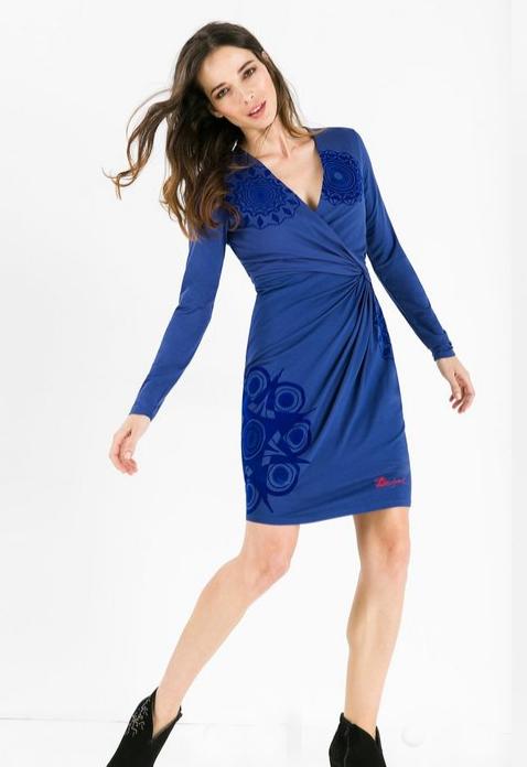 Navy Blue Wrap Dresses Howtowear Fashion