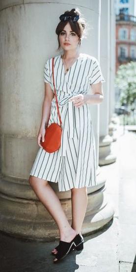white-dress-wrap-vertical-stripe-orange-bag-black- 4fb99cc66