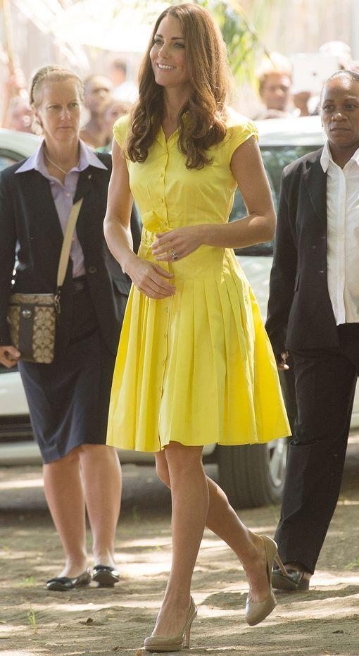 add84ec21969 yellow-dress-a-tan-shoe-pumps-shirt-wear-