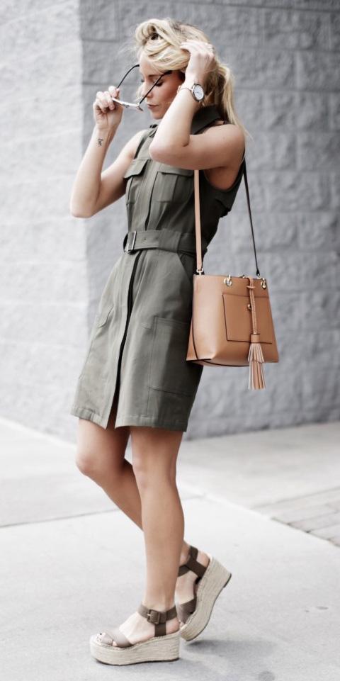 58f477e4081 green-olive-dress-shirt-tan-bag-green-shoe-