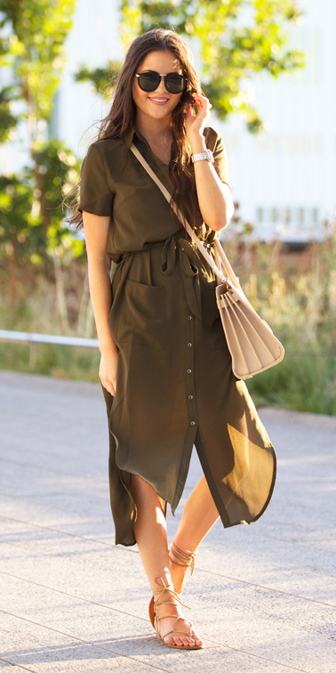 5314fe708dc green-olive-dress-shirt-white-bag-tan-shoe-
