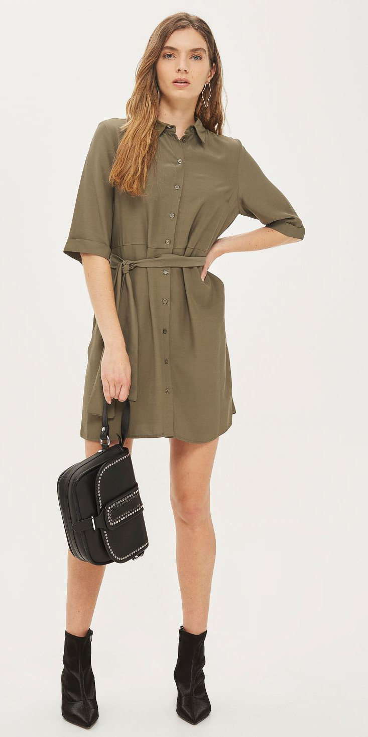 Olive Green Shirt Dresses Howtowear Fashion