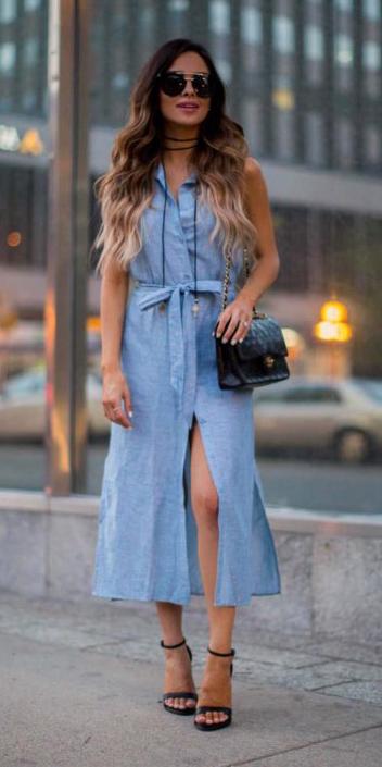 Light Blue Shirt Dresses Howtowear Fashion