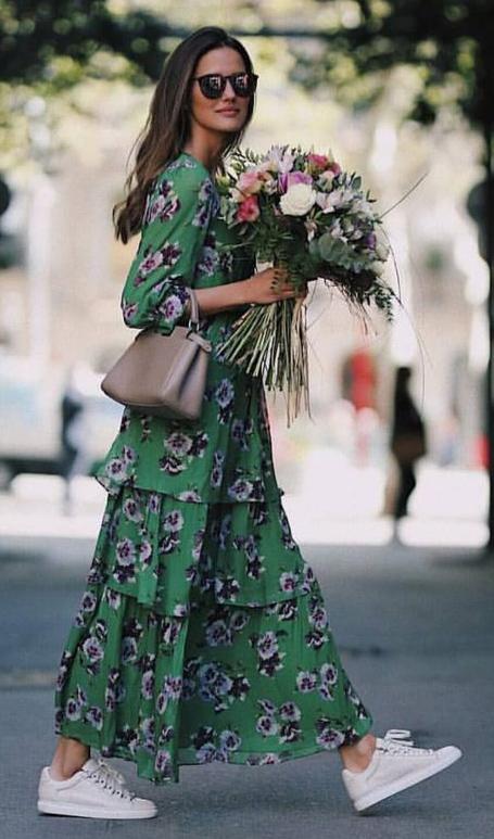 cf82af42a4 green-emerald-dress-floral-print-tan-bag-hairr-