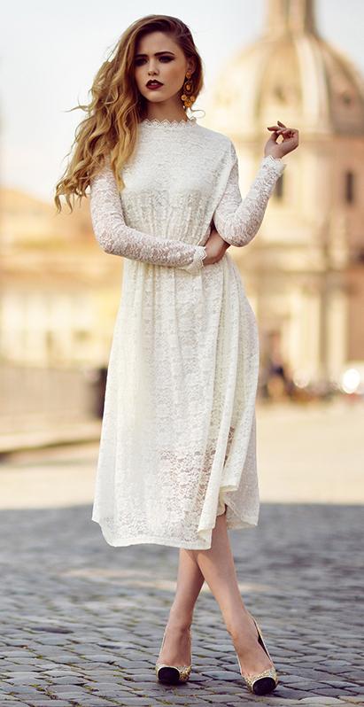 99355989101 white-dress-aline-lace-tan-shoe-pumps-earrings-