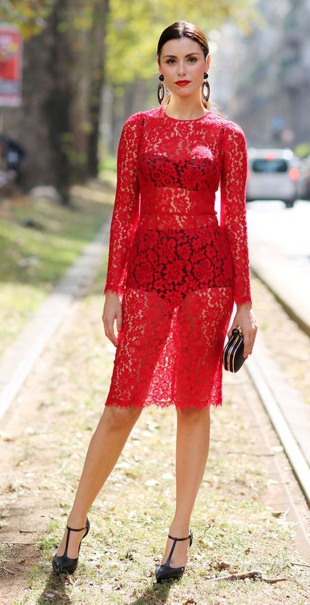 Cherry Red Bodycon Dresses Howtowear Fashion