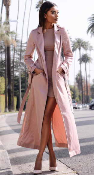 pink-light-dress-bodycon-mono-lob-brun-pink-shoe-pumps-pink-light-jacket-coat-trench-spring-summer-dinner.jpg