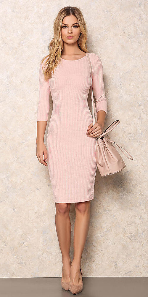 pink-light-dress-bodycon-pink-bag-tan-shoe-pumps-spring-summer-blonde-lunch.jpg