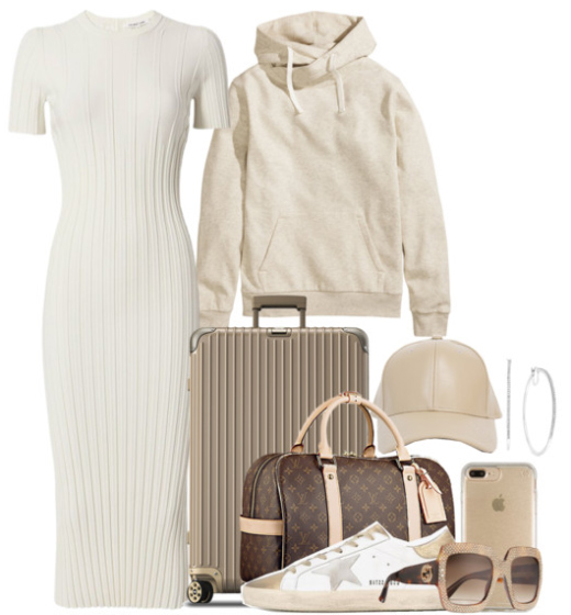 white-dress-sweater-bodycon-white-shoe-sneakers-hat-cap-hoops-brown-bag-sun-white-sweater-sweatshirt-hoodie-spring-weekend.jpg
