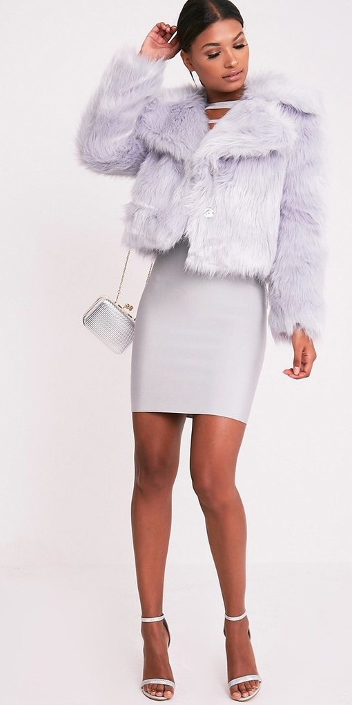 white-dress-bodycon-white-bag-white-shoe-sandalsh-purple-light-jacket-coat-fur-fuzz-fall-winter-brun-dinner.jpg