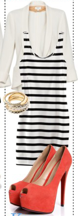 white-dress-tank-stripe-white-jacket-blazer-orange-shoe-pumps-bracelet-bodycon-fashion-style-outfit-spring-summer-dinner.jpg