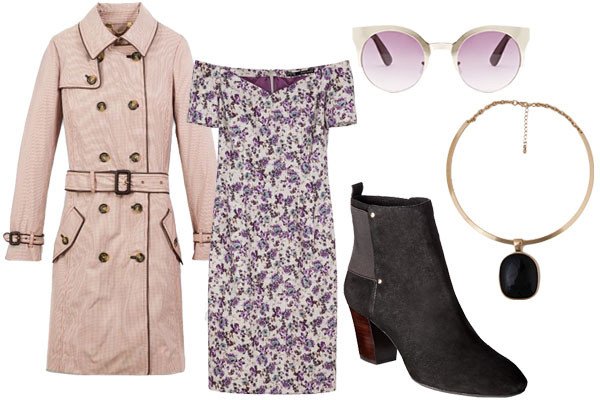 what-to-wear-for-a-fall-wedding-guest-outfit-autumn-outdoor-white-dress-floral-print-bodycon-tan-jacket-coat-trench-necklace-sun-black-shoe-booties-dinner.jpg