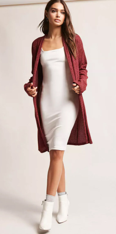 white-dress-bodycon-red-cardiganl-white-shoe-booties-socks-fall-winter-brun-lunch.jpg